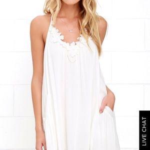Lush lily love ivory shift dress style 289362